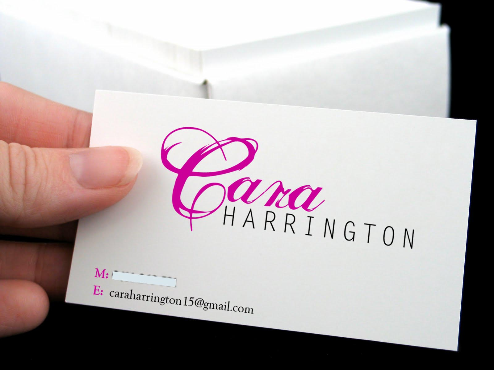 personal business card graphic web design